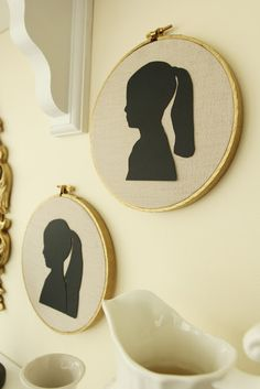 Less-Than-Perfect Life of Bliss: Silhouette Embroidery Hoop Art Tutorial DIY
