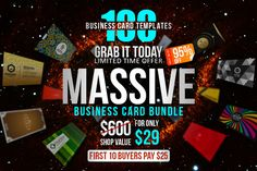 100 Massive Business Card Bundle by Marvel on Creative Market