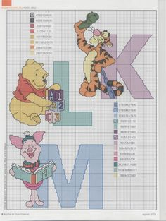 "Cross stitch patterns ""Winnie the Pooh Alphabet» 