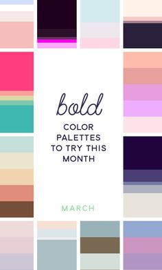 On the Creative Market Blog - 20 Pink & Blue Color Palettes to Try This Month: March 2016