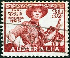 AUSTRALIA - CIRCA 1952: Australia shows Pan-Pacific Scout Jamboree