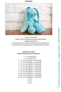 so want to make this long-eared crocheted amigurumi bunny pattern for my son this Easter!I so want to make this long-eared crocheted amigurumi bunny pattern for my son this Easter! Crochet Baby Toys, Crochet Teddy, Easter Crochet, Crochet Bear, Crochet Dolls, Baby Knitting, Crochet Bunny Pattern, Crochet Animal Patterns, Crochet Patterns Amigurumi