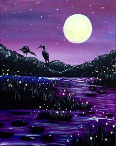 Paint Nite.Evening Pond