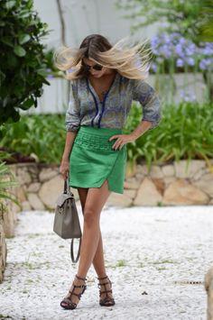Meu Look: Roxo e Verde - Glam4You por Nati Vozza   da marca CAROL ARBEX - www.carolarbex.com