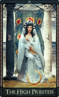 ☆ The High Priestess Tarot Card :→:  By Acheronnights ☆