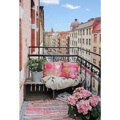 How to Make the Most of Your Seriously Small Apartment Balcony ❤ liked on Polyvore featuring backgrounds