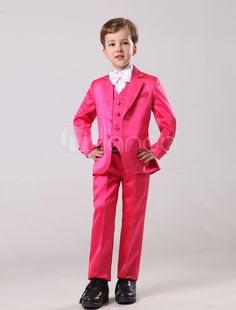 769c8240f Gorgeous Rose Red Satin Bridal Ring Bearer Suits #Red, #Satin, #Gorgeous.  desiniy · Unique Fashion Accessories Christmas Gifts