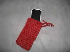 Drawstring cell phone carrier or small drawstring purse MADE TO ORDER. $5.00, via Etsy.