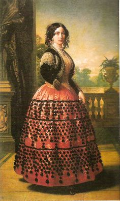 The Duquesa de Medinaceli is serious about folk dressing in this 1854 Madrazo y Kunz portrait! Spanish Artists, Spanish Painters, Historical Costume, Historical Clothing, 1800s Clothing, Historical Dress, Fashion Art, Vintage Fashion, Greek Paintings