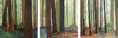"""Saatchi Art Artist Sandrine Pelissier; Painting, """"Embroidered Forest"""" #art"""
