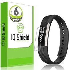 Fitbit Alta HR Screen Protector (2017,Compatible w/ Fitbit Alta 2016), IQ Shield LiQuidSkin (6-Pack) Full Coverage Screen Protector for Fitbit Alta HR HD Clear Anti-Bubble Film