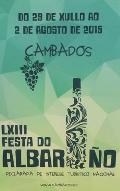 Cartel descalificado festa do albariño 2015 Perspective, Pageants, Advertising, Fiestas, Ad Campaigns, Poster, Alcohol, Posters, Perspective Photography