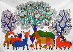 Gond Art.  Tribal art form from India
