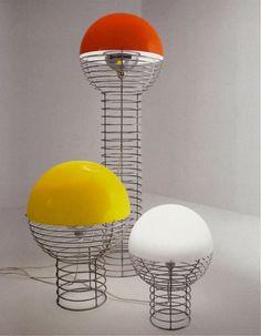 """Verner Panton  J. Lüber  """"Wire"""" lights""""  c. 1972"""