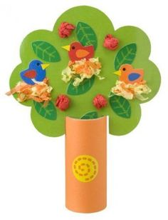 Поделка весеннего дерева с птицами - Сайт для мам малышей