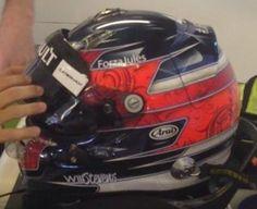 Will Stevens Abu Dhabi Helmet