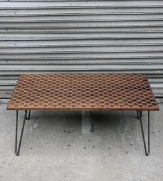 Hexacomb Walnut Coffee Table/Dining Table  by Dave Marcoullier on Scoutmob Shoppe
