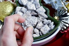 Classic Puppy Chow, ready in 15 minutes: rice chex, peanut butter, chocolate and powdered sugar   {Iowa Girl Eats}