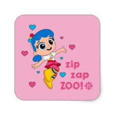 Shop True - Zip Zap Zoo Square Sticker created by cbcradiocanada. 5th Birthday Party Ideas, Birthday Diy, Birthday Parties, Cool Diy, Easy Diy, Peeling Paint, Kids Stickers, Christmas Gifts For Kids, Diy Bedroom Decor