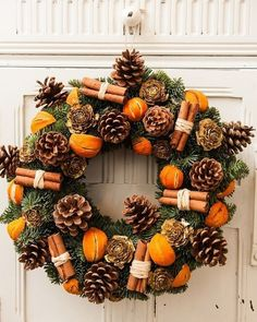 21 DIY Christmas Wreaths to Make Now! - Sharp Aspirant Thinking of making your own Christmas wreaths? You're going to love these fun and creative Christmas wreaths ideas! They're simple and easy to make and don't cost too much. Christmas Tree Decorating Tips, Rustic Christmas Ornaments, Christmas Wreaths To Make, Christmas Door Decorations, Noel Christmas, Christmas Centerpieces, Christmas Crafts, Cheap Christmas, Christmas Christmas