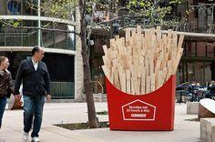 Empresa dedetizadora (ripas de madeira como batatas-fritas para cupins)