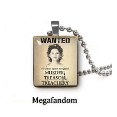 Once Upon a Time Snow White Wanted Poster Scrabble Handmade Pendant... ($7.95) ❤ liked on Polyvore featuring jewelry, pendants, once upon a time, charm pendant, letter necklace pendants, initial pendant, pendant jewelry and letter pendant