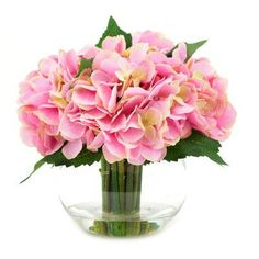 Darby Home Co Pink Hydrangea Bouquet in Water