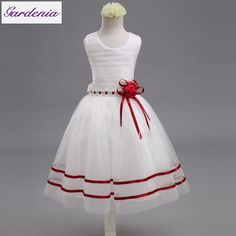 Cheap flower girl dresses, Buy Quality flower girl directly from China flower girl dresses pictures Suppliers: Real Picture Flower Girl Dresses New A Line Scoop With Bow Sashes Pleat First Communion Dresses For Girls Vestidos De Comunion Red Flower Girl Dresses, Girls Dresses, Dress Girl, Flower Girls, Party Gowns, Wedding Party Dresses, Robes De Confirmation, African Fashion, Kids Fashion