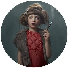 """Enlightning series 'Smoking Kids"""" by Belgian Frieke Janssens"""