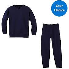 comfortable and warm sweatshirts and sweatpants are a must during the winter season.