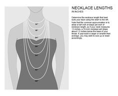 Nordstrom Necklace Lengths Guide - very useful for buying jewelry online