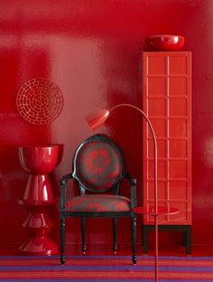 Black and red chair #redandblack #red #chairs