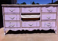 French Provincial Dresser Lavender by PopOfColorDesignz on Etsy, $175.00