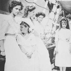 The Imperial Children of Russia aboard the imperial yacht Standart, c. 1912 by historyofromanovs from Instagram