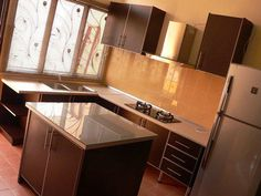 Lshaped Kitchen Cabinet With Island