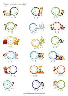 Ania mama Agnieszki: Zegar - godziny, minuty - zadania Homeschool Preschool Curriculum, Preschool Learning, Teaching Math, Teaching Time, Kindergarten Math Worksheets, Preschool Activities, Abacus Math, Math For Kids, Reading Comprehension Activities