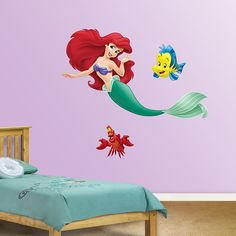 The Little Mermaid Collection | REAL.BIG. Fathead U2013 Peel U0026 Stick Wall  Graphic | The Little Mermaid Wall Decal | Disney Decor |  Bedroom/Playroom/Nursery