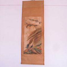 Hand Drawn Chinese Xuan Paper Peacock Painting w Artist Signature