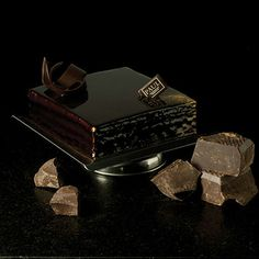 Craquant Dark chocolate sponge cake, layered with praline and chocolate ganache.  Whatever...it's definitely up there with rude.