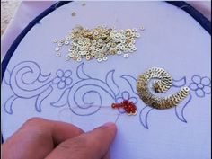 beads work for dress/embroidery tutorial – hand embroidery Bead Embroidery Tutorial, Hand Embroidery Videos, Hand Embroidery Flowers, Bead Embroidery Patterns, Hand Embroidery Designs, Embroidery Techniques, Ribbon Embroidery, Sequin Embroidery, Hand Work Embroidery