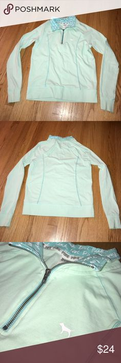 💞 VS PINK 💞 Half Zip Sweatshirt Victoria's Secret PINK 💕  Teal Half Zip Sweater   Size: Small 💜  I do not: ❌ Trade ❌ Accept Lowball Offers  I encourage: ✅ Bundling ✅ Reasonable Offers  ❤ All items are in great condition unless otherwise noted  ❤ All items are from a smoke free home ❤ I offer a bundling discount to encourage bundling ❤ If you have any questions, don't hesitate to ask! PINK Victoria's Secret Sweaters Crew & Scoop Necks