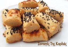 Finger Food Appetizers, Finger Foods, Appetizer Recipes, Cookie Dough Pie, Pizza Tarts, Party Buffet, Greek Recipes, Food Art, Biscuits