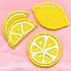 Citron par sadstitch sur Etsy #patches