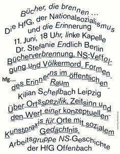 """saschalobe:  """" Poster »Bücher, die brennen …«, 2014, SL  """""""