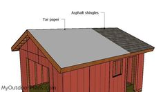 This step by step diy woodworking project is about a gable shed roof plans. This is PART 2 of the large storage shed project, where I show you how to build the gable roof. This roof has a pitch, but you can adjust it super easily. Woodworking Projects Diy, Woodworking Plans, Building A Shed Roof, Shed Frame, Roof Trim, Asphalt Roof Shingles, Shed Doors, Storage Shed Plans, Wooden Playhouse