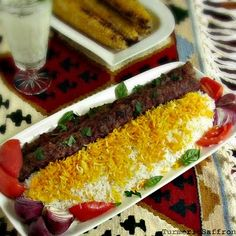 Kabab Koobideh - Persian Grilled Ground Lamb On Skewers - another HUGE favorite in our home but in deference to our daughters we make it with ground beef.  When they were little they just couldn't bear the thought of eating lamb.  I like it though.
