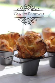 Black pepper and Gruyere popovers --- I've made this recipe twice in two days after finding a popover pan at a thrift store. These are SO incredibly simple and they make you feel fancy... oh, and they're stupid delicious. (can be made in muffin tin tooooo)