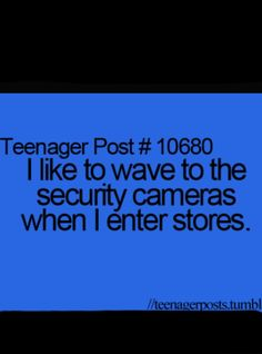 I've done this...or at target where you can see yourself in the tv so you just kinda smile at yourself and do a little dance lol