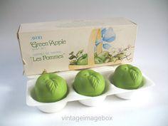 AVON Green Apple Soap Set (Les Pommes Coffret), vintage retro 1970s 1980s 70s…