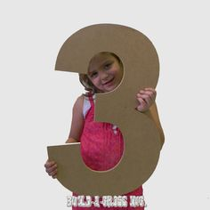 Unfinished Wooden Numbers Large Paintable Cutout Craft 24'' (3)